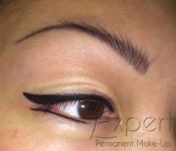 Permanent Make-up Lidstrich als Dekorativer Eyeliner oben und unten in Berlin Foto 1