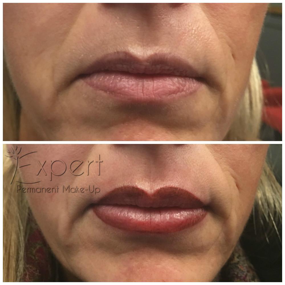 Vorher Nachher Bilder Von Permanent Make Up Lippen In Berlin Bei